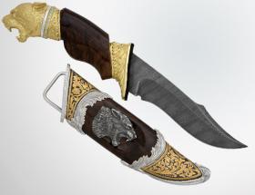 Нож «Черная пантера» (позолота)