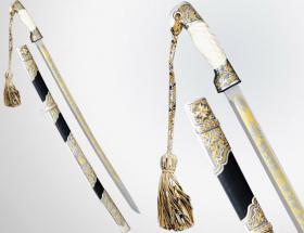 Шашка казачья (дамаск, серебро, кость)