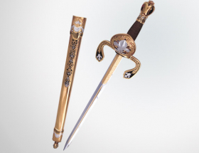 Дага «Королева» (кинжал для левой руки) (серебро, дамаск)