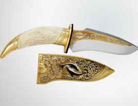 Нож «Дельфины» (кость)