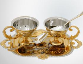 Набор кофейный с двумя чашками